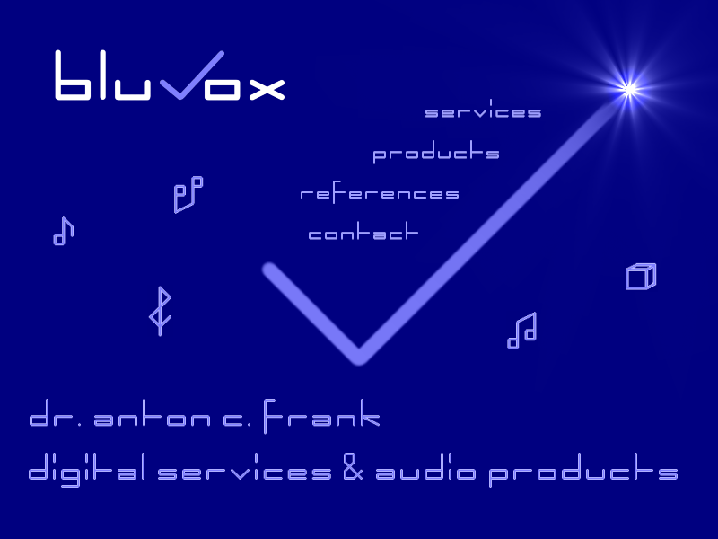 Dr. Anton Frank digital services & audio products